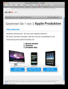 Mail von mp3.de