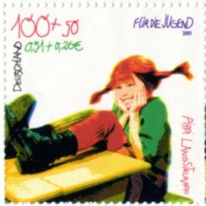 Pippi Langstrumpf Briefmarke