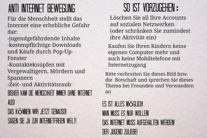 Anti Internet Bewegung