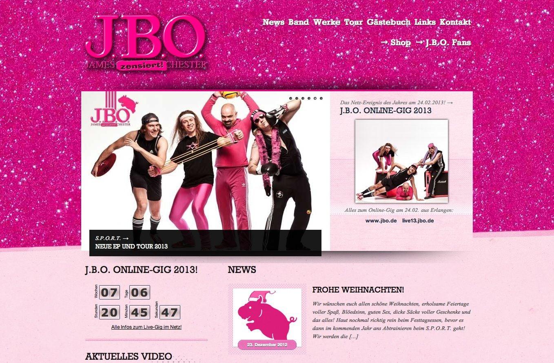 Neue J.B.O. Website