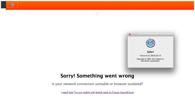 Soundcloud: Something went wrong
