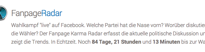 Wahlkampf: FanpageRadar