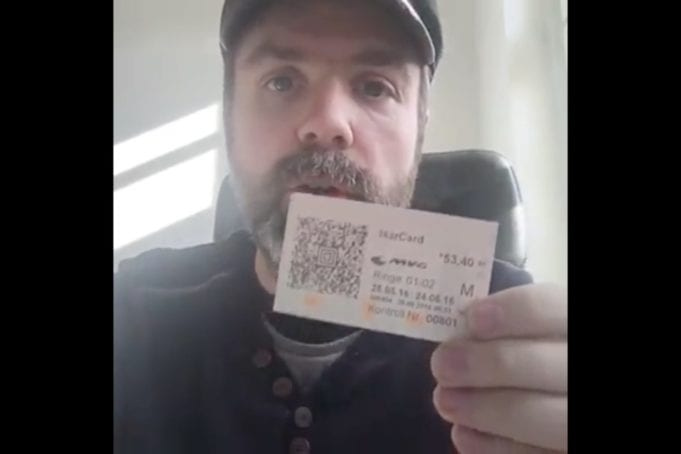 Fahrkarte verbrennen