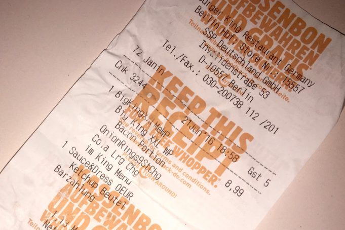 Die Berlin-Bacon-Burger-King-Verschwörung