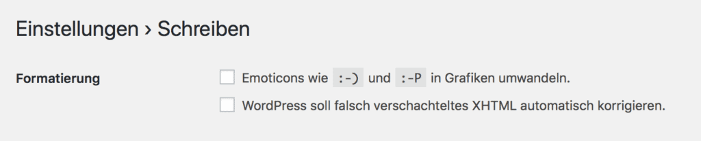 Emoticons aus - gut!