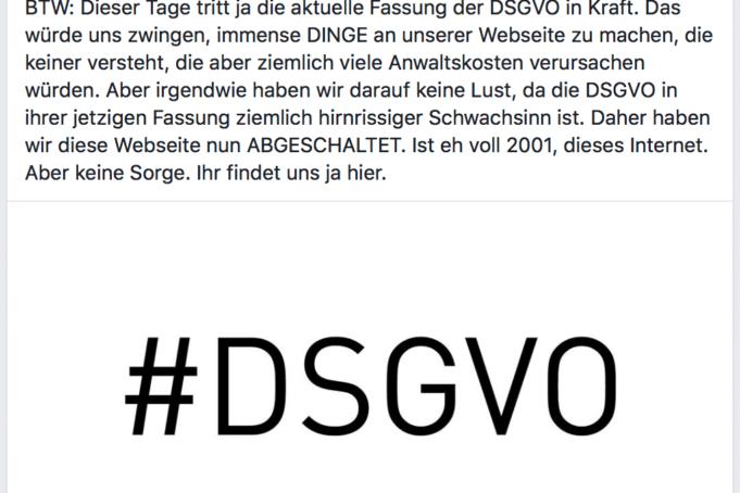 DSGVO Absurditäten
