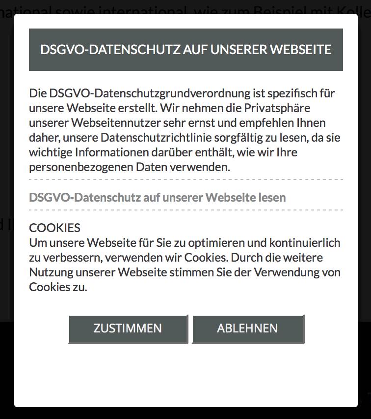 Die DSGVO-Datenschutzgrundverordnung ist spezifisch für unsere Webseite erstellt.