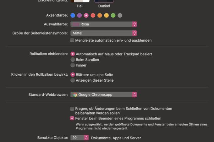 macOS Mojave Dark Mode und CSS