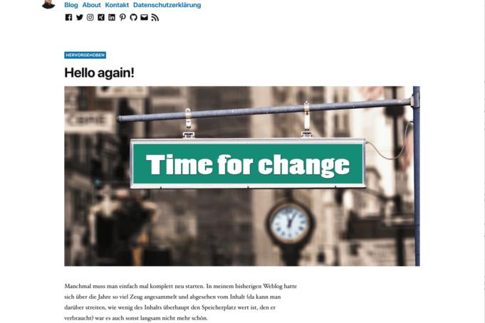 Wordpress Theme DIO 2019
