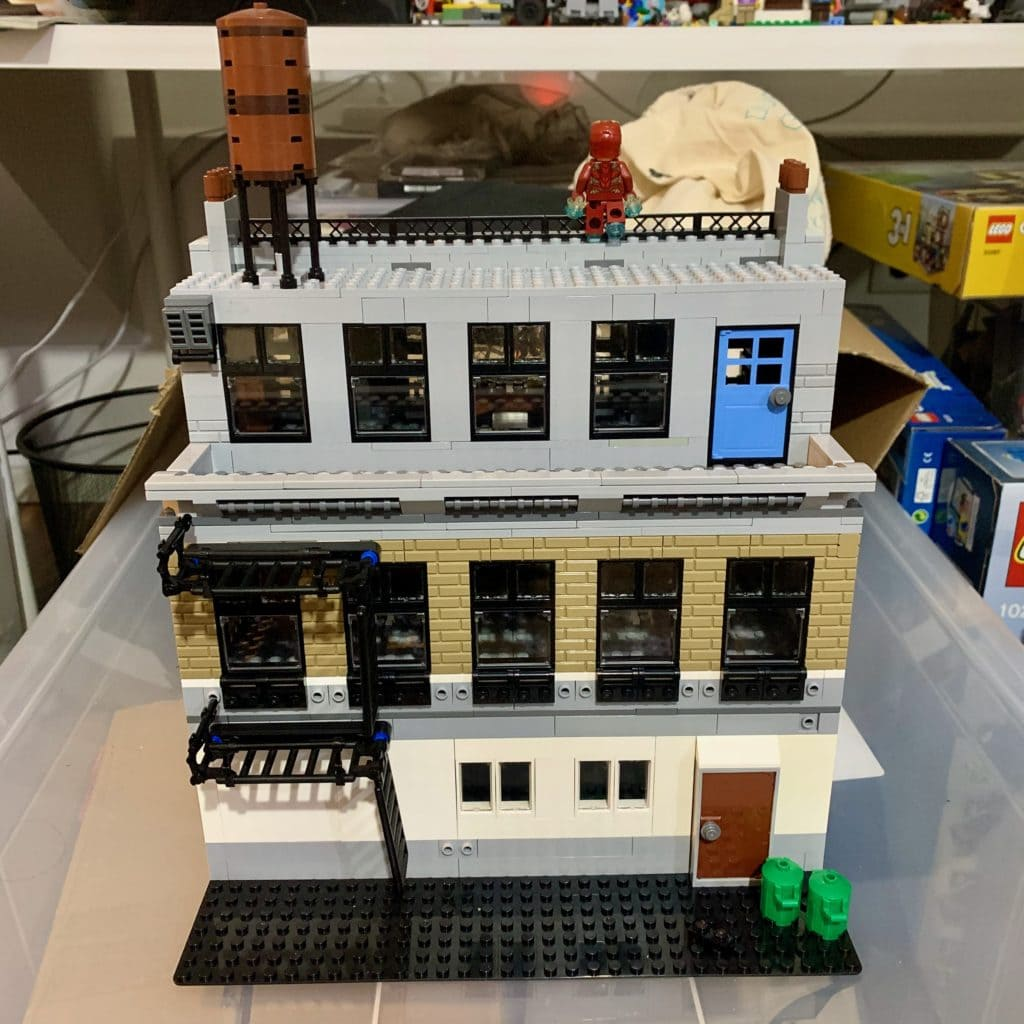 Lego Sanctum Sanctorum Modular Building MOC Rückseite